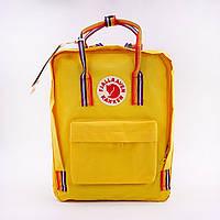 Рюкзак стильний міський Fjällräven Kanken Classic жовтий