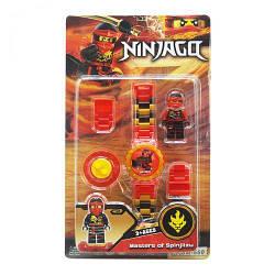"""Детский набор """"Ninjago"""" с часами (красный)  sco"""