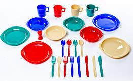 Набір посуду пластикового (на 4 персоны) Tramp. Набор посуды для кимпинга