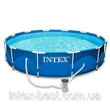 Каркасный бассейн Intex 28212, (366x76 см), ( Картриджный фильтр-насос 2006 л/ч), фото 2
