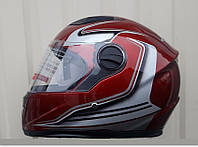 Шлем Интегра глянцевый тёмно красный размер M