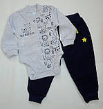 Бодик для новорождённых BD-19-26-1 *Зоомир* (цвет серый, размер 62, 74), фото 5