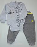 Бодик для новорождённых BD-19-26-1 *Зоомир* (цвет серый, размер 62, 74), фото 6