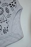 Бодик для новорождённых BD-19-26-1 *Зоомир* (цвет серый, размер 62, 74), фото 7