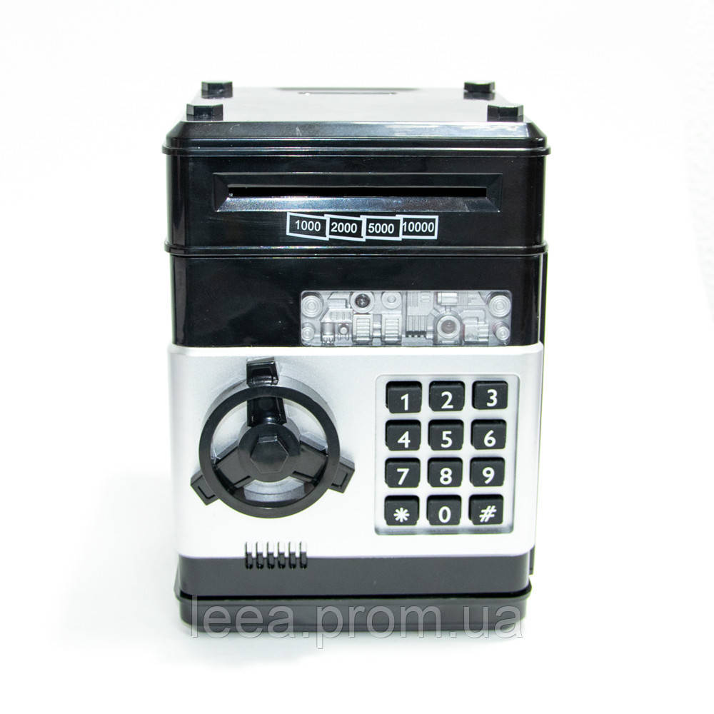 🔝 Игрушечный детский сейф с кодовым замком, детская копилка, Number Bank для детей (черные кнопки) 🎁%🚚
