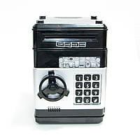 🔝 Дитячий іграшковий сейф з кодовим замком, дитяча скарбничка, Number Bank для дітей (чорні кнопки) 🎁%🚚