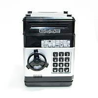 Копилки для детей - детский сейф (дитячий сейф скарбничка) игрушка Number Bank с кодовым замком, кнопки Бирюза