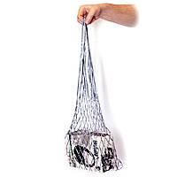 Сумка шопер - Авоська на плечо - Атлас - Серебро, фото 1