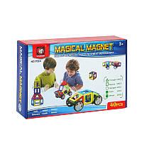 "Магнитный конструктор Magical Magnet 702A ""Транспорт"", 40 дет, фото 1"