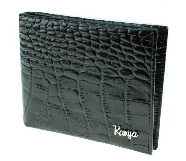 Кошелек зажим для денег Karya 0945-53 кожаный черный