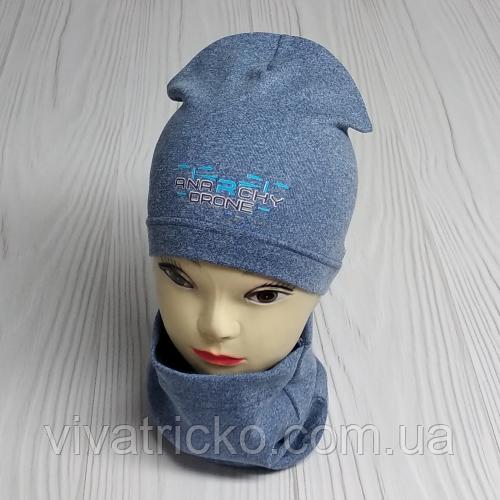 """М 4516. Комплект осінь-весна, шапка + хомут для хлопчиків """"ANARCHY DRONE"""" 3-8 років, різні кольори"""