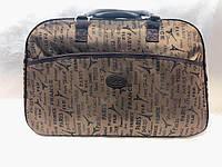 Коричневая женская дорожная сумка-саквояж Париж