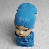 """М 4516. Комплект осінь-весна, шапка + хомут для хлопчиків """"ANARCHY DRONE"""" 3-8 років, різні кольори, фото 3"""
