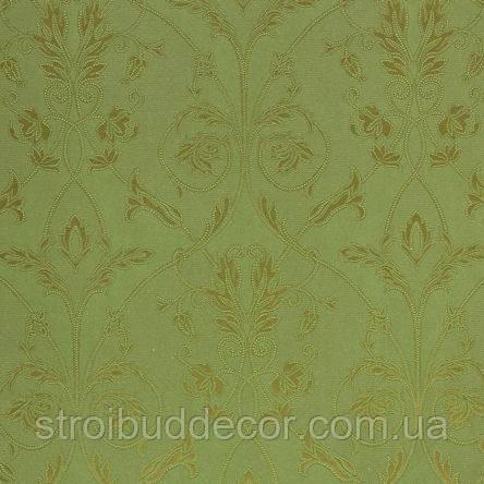 Обои бумажные акриловые (пенообои)   0,53*10,05 красивый узор Слобожанские зеленый