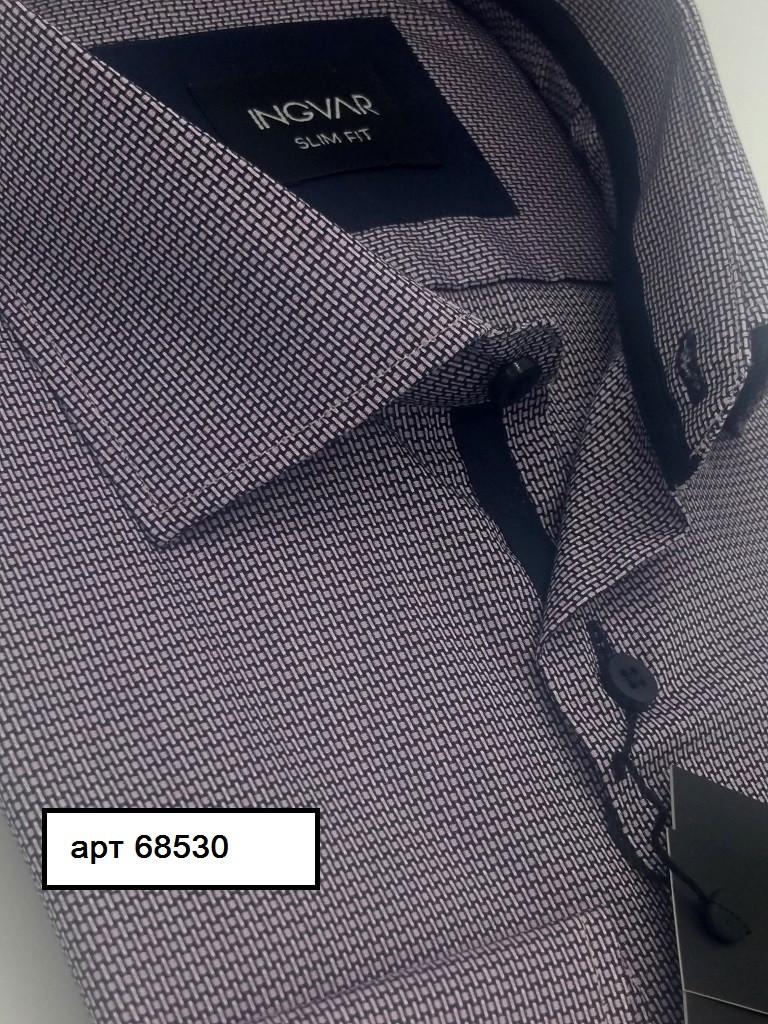 Рубашка мужская розово-синий жаккард  ТМ INGVAR