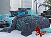 Полуторное постельное белье ранфорс Лазурит с комп. ТМ ТAG