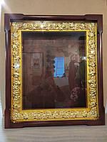 Киот резной с золотой рамой, фото 1