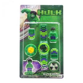 "Детский набор ""Hulk"" с часами  sco"