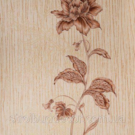Обои бумажные акриловые (пенообои)   0,53*10,05 цветы  Слобожанские коричневый