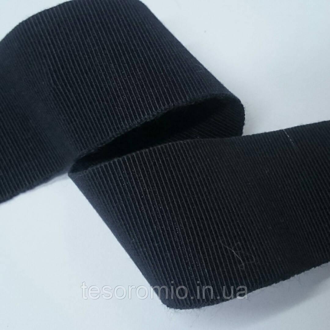 Резинка для одежды, наружная, декоративная, репсовая, темно-синяя 30мм