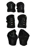 Комплект защиты Sports Helmet 3 в 1 размер S-M Черный (С34590)