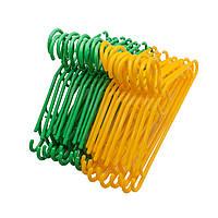 Пластмассовые вешалки для детской одежды в расцветках, 32см, 10шт в упаковке