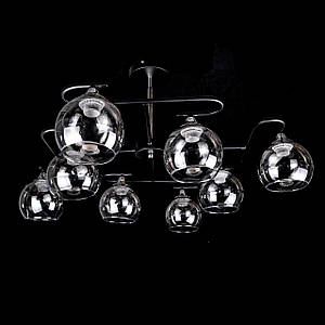 Люстра в стиле лофт на 8 лампочек P5-N3572/8/BK+CH