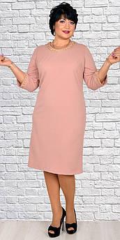 Сукня жіноча клітинка з металевою/прикрасою довгий/рукав рр.48-58