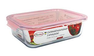 Скляний контейнер з кришкою Con Brio CB-8115 1,5 л