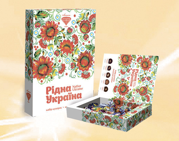 Конфеты в коробке Родная Украина 500 гр. ТМ Аметист