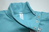 Бодік для новонароджених BD-19-31 *Технобой* (колір ментол. Розмір 80), фото 4