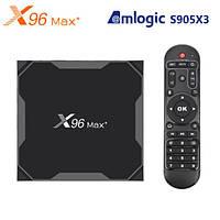 Смарт ТВ бокс X96 MAX+ 4/32Гб Amlogic S903x3 8K Wi-Fi 2.4/5ГГц LAN Android