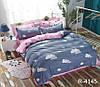 Двоспальне постільна білизна ранфорс R4145 з комп. ТМ TAG