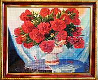 Алмазна мозаїка картина Півонії зроблена з рамкою