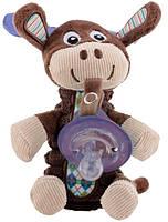 Мягкая игрушка Nuby Олень с держателем для пустышки