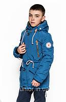Модная весенняя куртка парка  для мальчика 158р