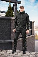 Мужской костюм Softshell хаки демисезонный Intruder. Куртка мужская , штаны утепленные. Бафф в подарок