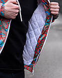 😜  Куртка- Мужская Куртка Ричстон сине-красная, фото 2