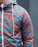 😜  Куртка- Мужская Куртка Ричстон сине-красная, фото 3