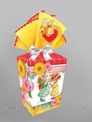 Подарункова коробка для цукерок, Подружки, 500 грам