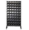 Стеллаж АТМ Н-1800 мм односторонний комплект + 60 шт черных кювет №701 (125х145х230 мм)