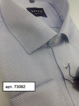 Рубашка мужская белый жаккард  ТМ INGVAR