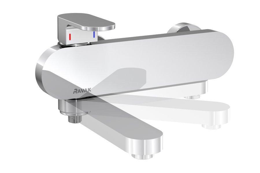 Смеситель для ванны Ravak Chrome со сливом возвращаемого без лейки 150 мм CR 022.00 / 150