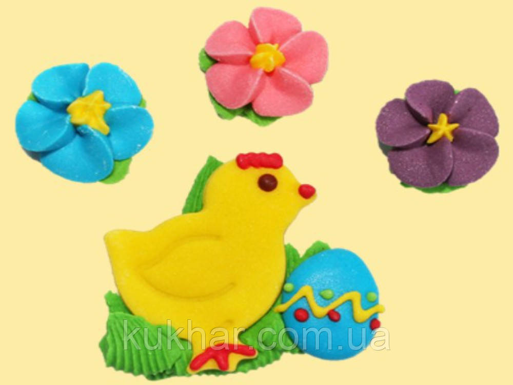 Набір курчатко з барвінками