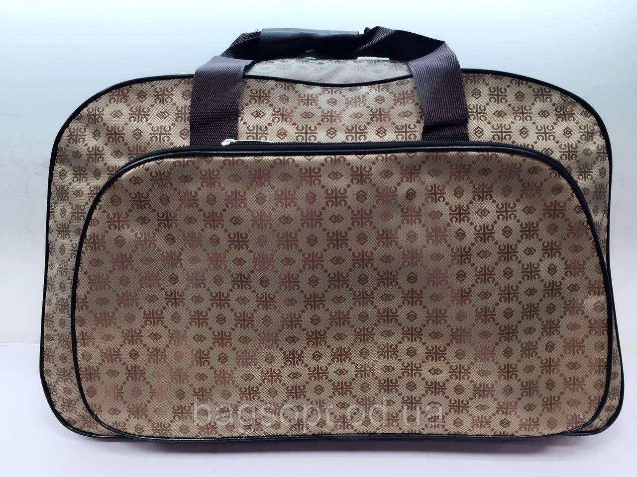 Женская текстильная дорожная сумка-саквояж для поездок и путешествий