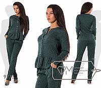 Стильний, модний жіночий прогулянковий ангоровый костюм-двійка: штани+кофта на гудзиках р. 42-54. Арт-2809/23