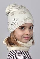 020 Детская блестящая шапка LOVE р.48-54 (от 2 лет). Есть разные цвета., фото 1