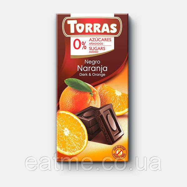Torras Dark with orange Черный шоколад  с апельсином