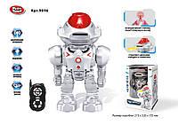 """Робот батар.р/у  """"PLAY SMART"""" звуковые эффекты,свет,стреляет дисками,в кор. 32*21,5*15,5см /18-2/ (9896)"""