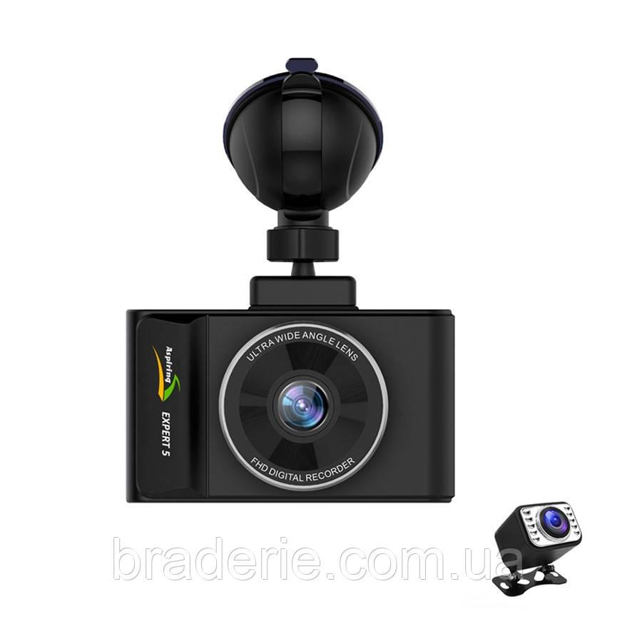 Автомобильный видеорегистратор Aspiring expert 5 dual,wi-fi